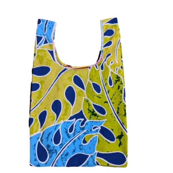 "ReAloha ""Reusable Tote Bag"" - Split Leaves Royal"
