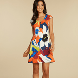Sherry Dress - Bamboo Orchid