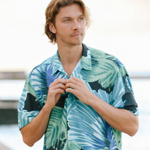 Men's Retro Shirt - Palmier