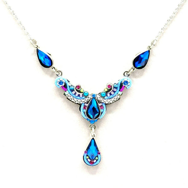 Firefly Lily Organic Necklace - Bermuda Blue