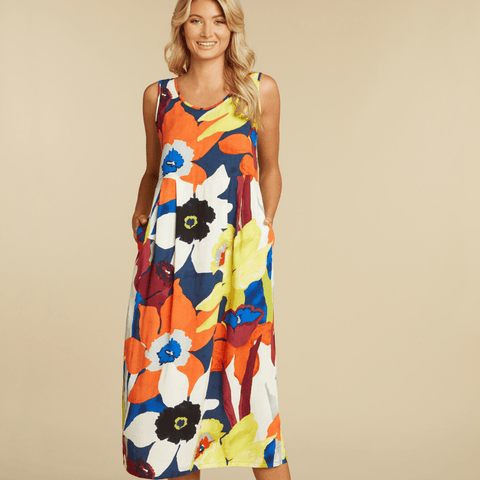 Janice Dress - Bamboo Orchid
