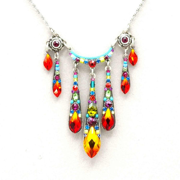 Firefly Gazelle 5-Drop Necklace - Multicolor