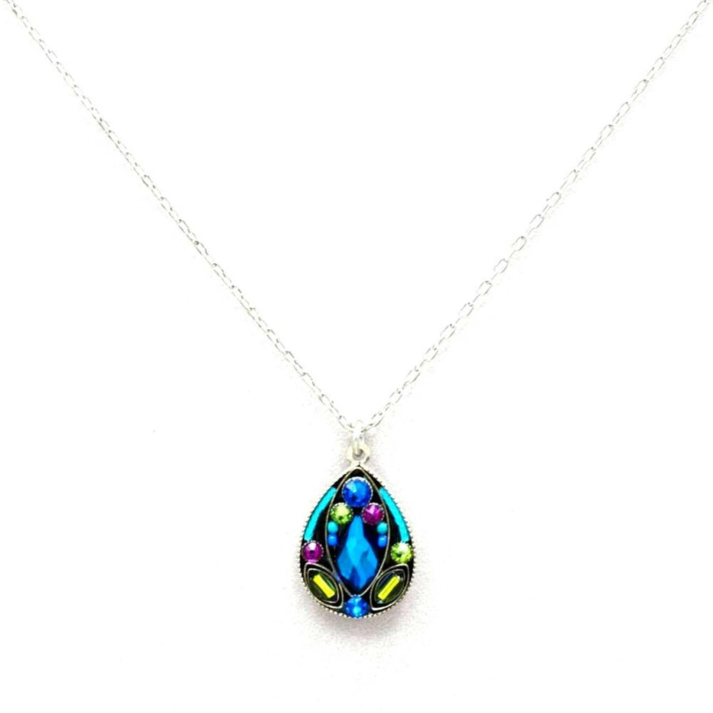 Firefly Large Drop Pendant Necklace - Bermuda Blue