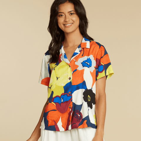 Print Top - Bamboo Orchid