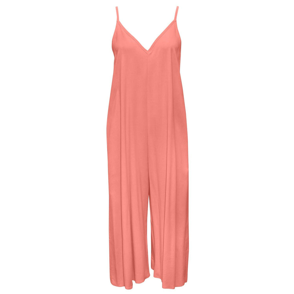 Solid Easy Jumpsuit - Coral