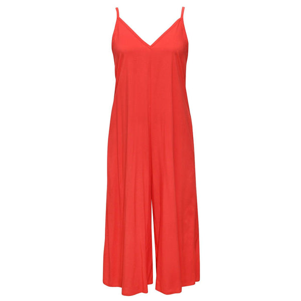 Solid Easy Jumpsuit - Flame