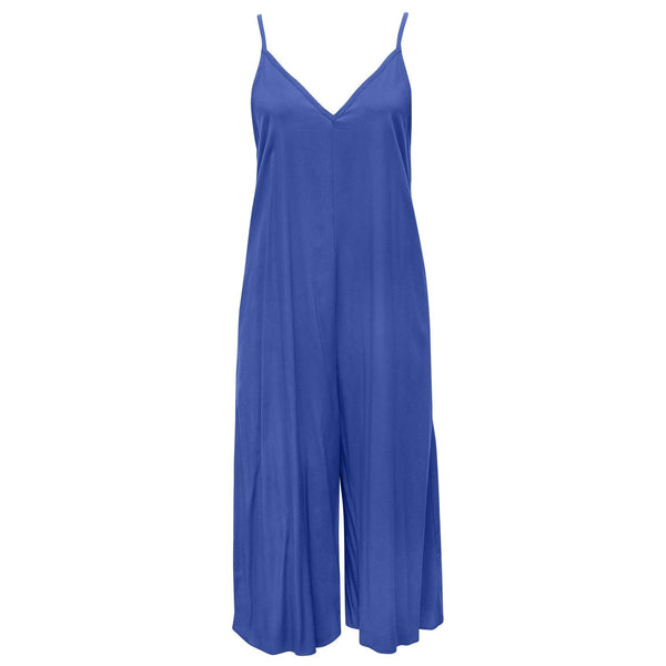 Solid Easy Jumpsuit - Midnight Blue