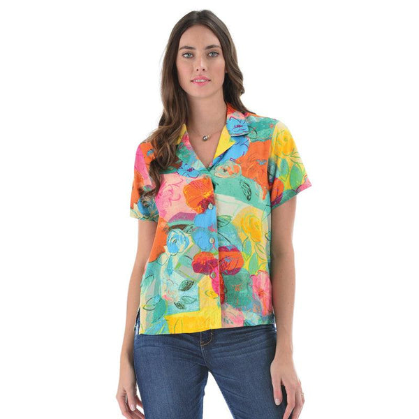 Print Top - Cotton Flower - jamsworld.com