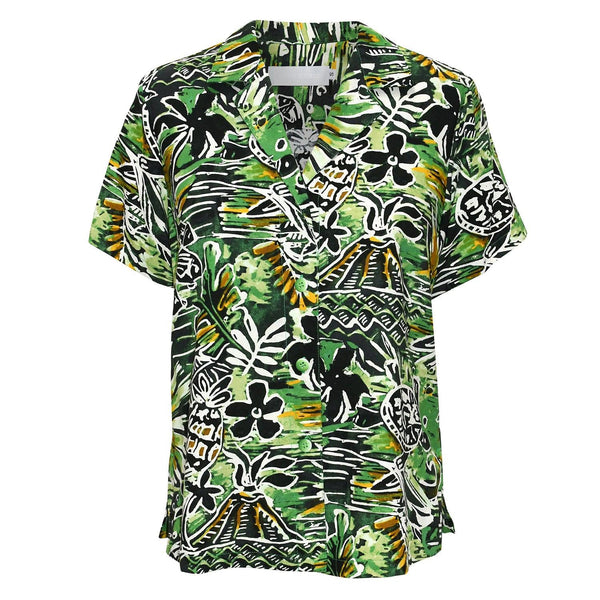Print Top - Honu Green