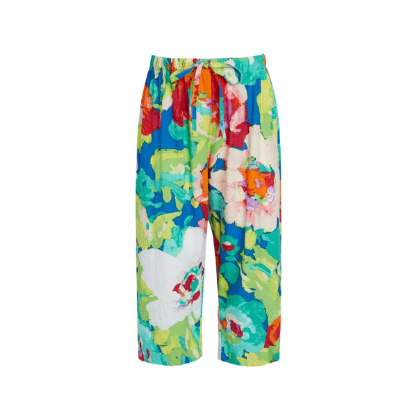 Girls Hawaiian Capri Pants : XS(4/5) to L(12/14)  - Bloomerang Royal - jamsworld.com