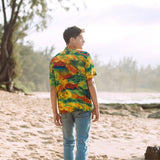 Men's Retro Shirt - Fire Fish - jamsworld.com
