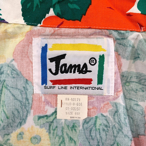 1980's Original Jams Surf Line International Blazer - White Floral