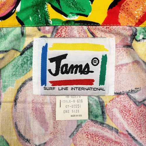 1980's Original Jams Surf Line International Blazer - Yellow Floral