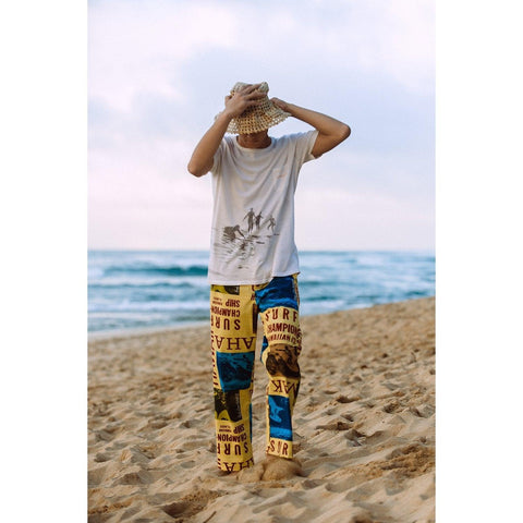 Men's Jams Pants - Surf Contest Yellow