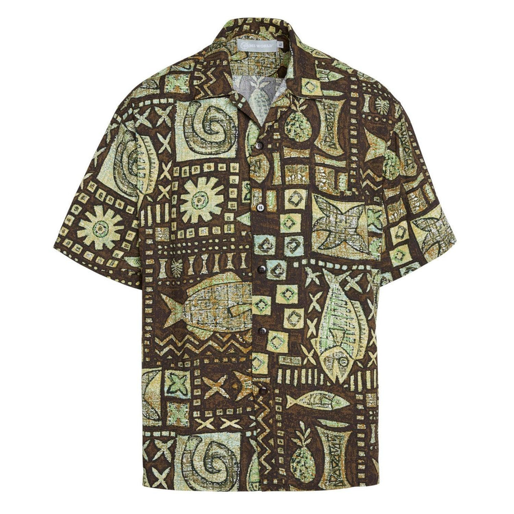 Men's Retro Shirt - Anahola Bay Brown - jamsworld.com