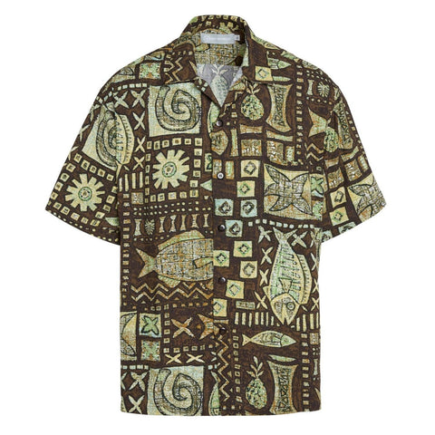 Men's Retro Shirt - Anahola Bay Brown
