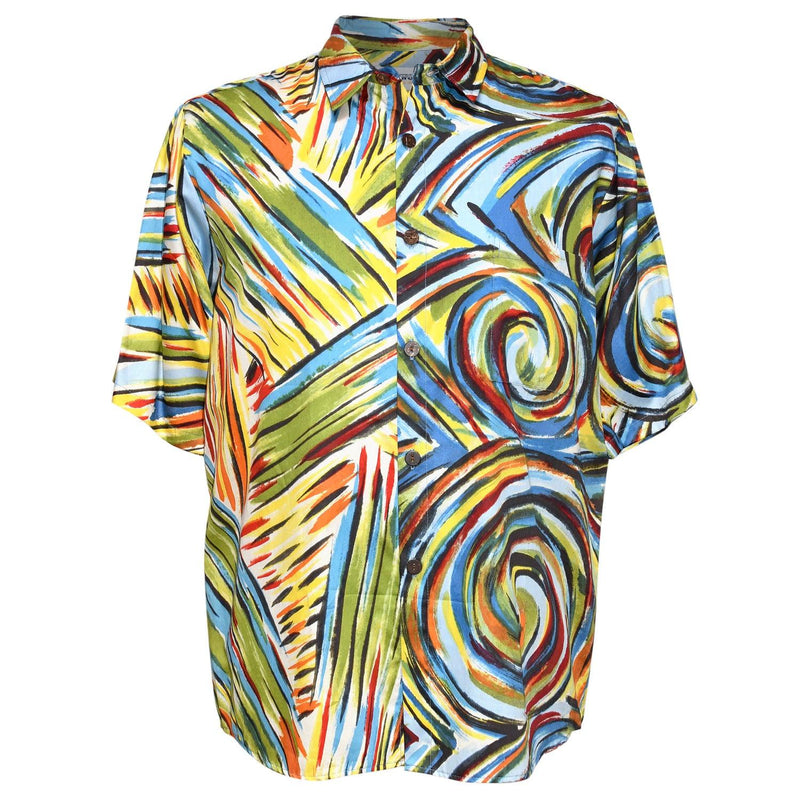 Men's Slim Fit Cotton Shirt - Whirly Pop