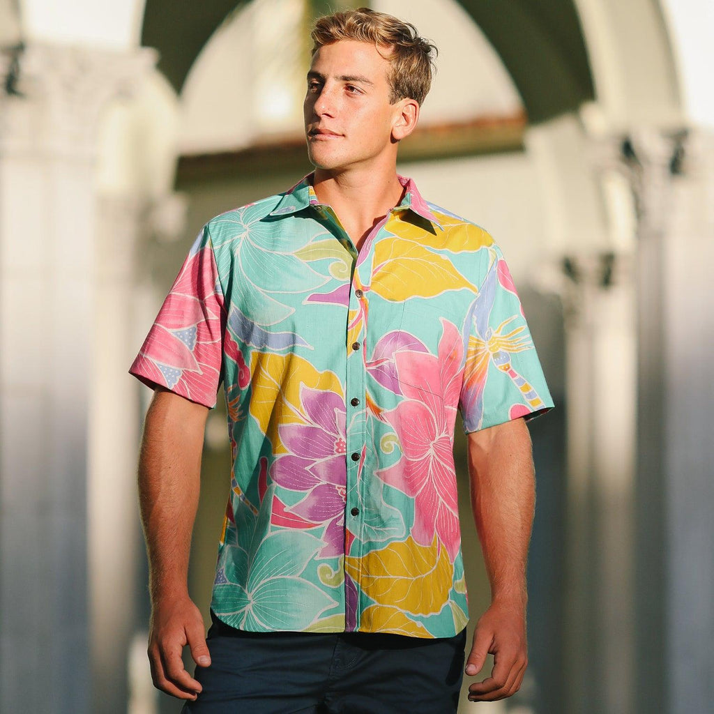 Men's Archival Collection Modern Fit Shirt - Dragon Fly Jade - jamsworld.com