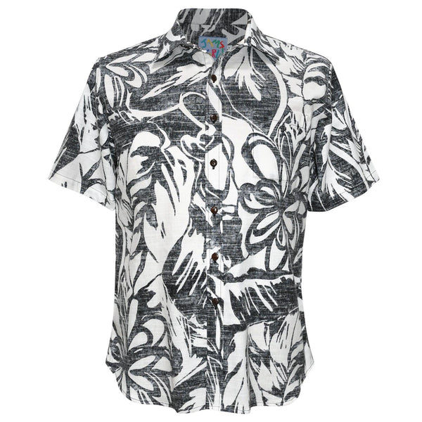 Men's Archival Collection Modern Fit Shirt - Royal Garden Black Reverse - jamsworld.com
