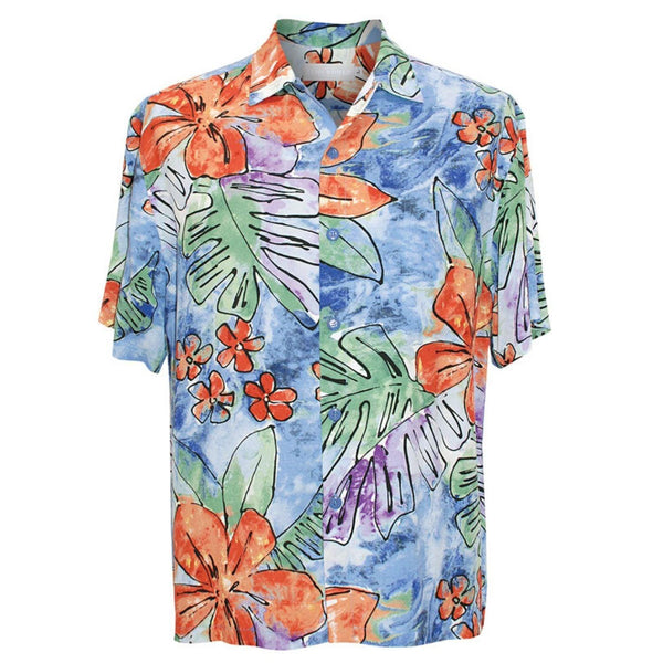 Men's Retro Shirt - Surf Flower