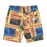 Men's Classic Boardshorts - Surf Contest Yellow