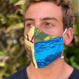 Jams World Face Mask - Surf Contest Yellow 10 Pack - jamsworld.com