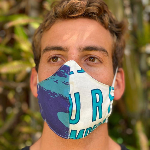 Jams World Face Mask - Surf Contest Red - jamsworld.com