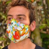 Jams World Face Mask - Daisy Patch Red/Blue - jamsworld.com