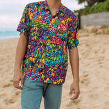 Men's Retro Shirt - Tiffany - jamsworld.com