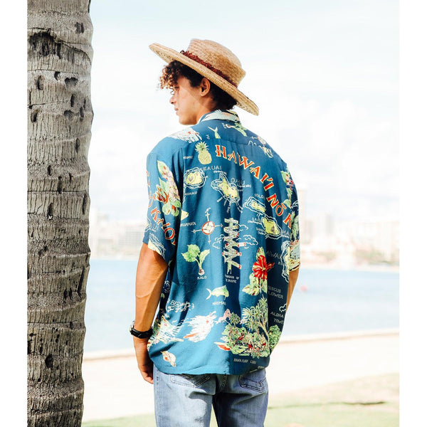 Men's Retro Shirt - No Ka 'Oi - jamsworld.com