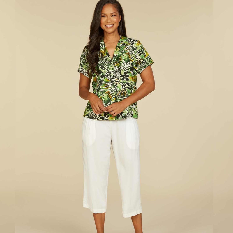 Print Top - Honu Island Green - jamsworld.com