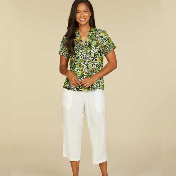 Print Top - Honu Island Green