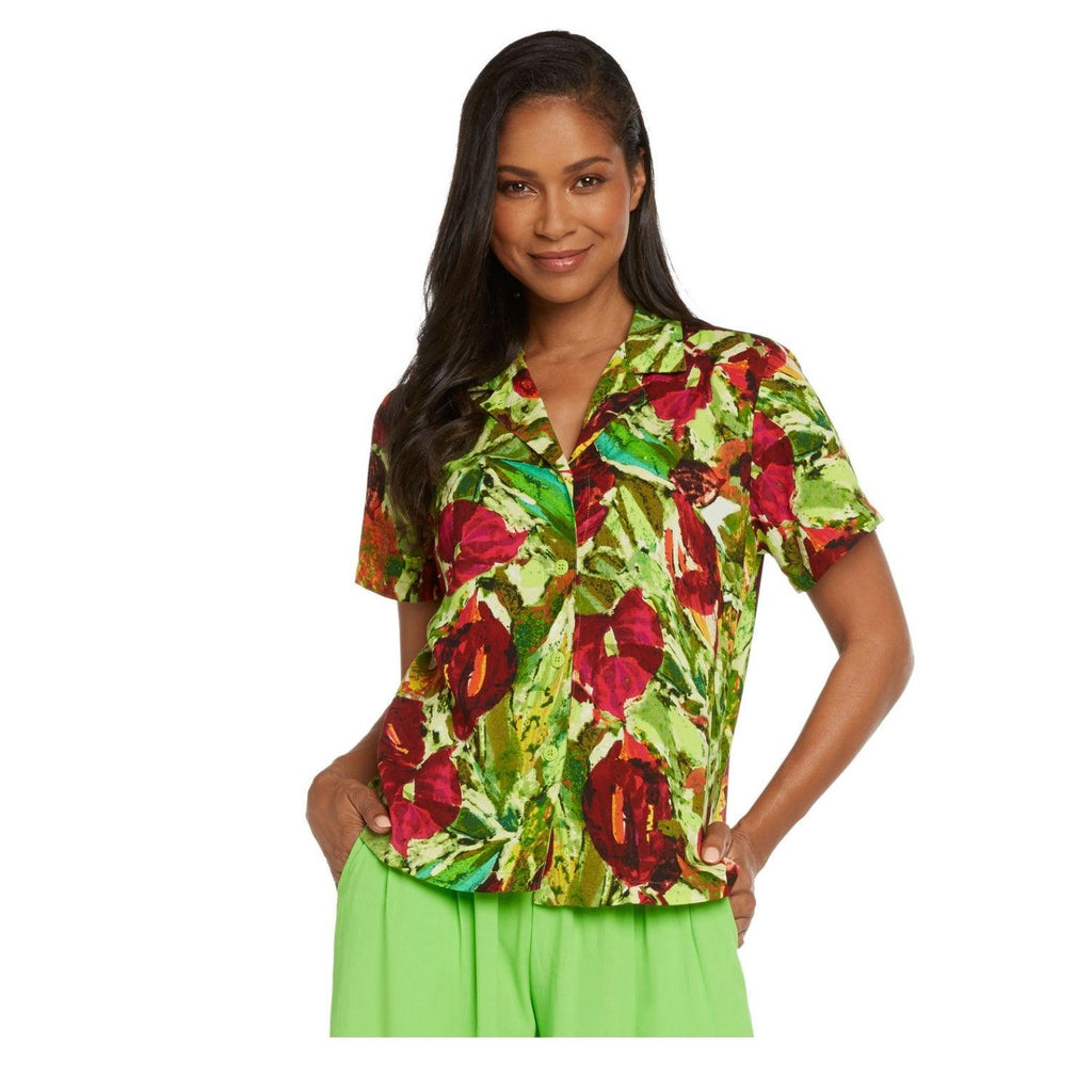 Print Top - Anthurium - jamsworld.com