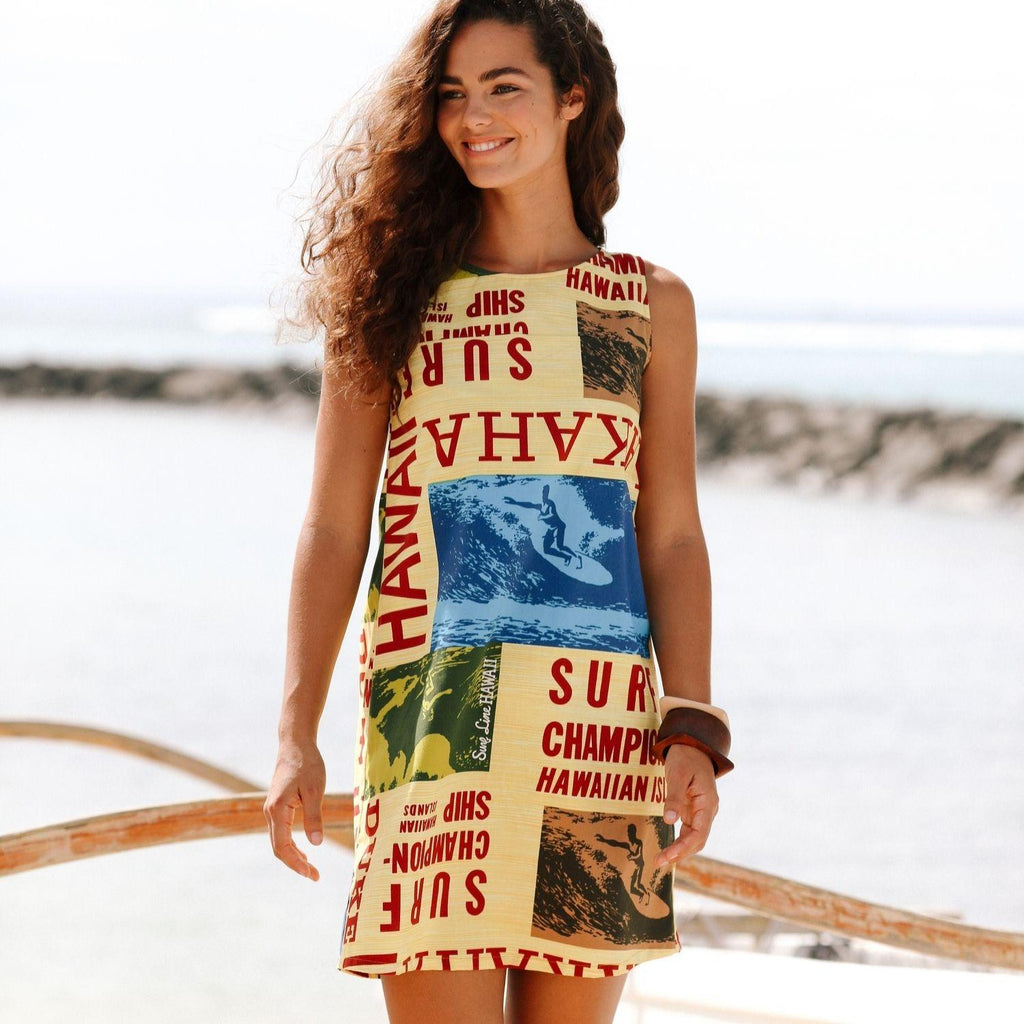 Cotton Jackie Dress - Surf Contest Yellow - jamsworld.com