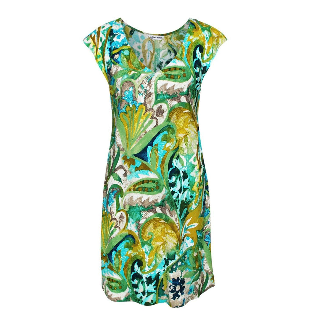 Sherry Dress - Mosaic Fern