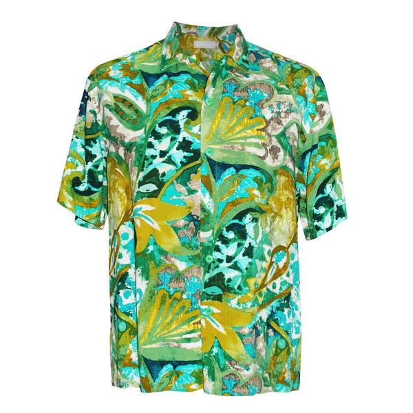 Men's Retro Shirt - Mosaic Fern - jamsworld.com