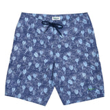 Men's Classic Boardshorts - Taro Leaves Navy - jamsworld.com