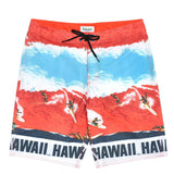 Men's Classic Boardshorts - Big Wave Red - jamsworld.com