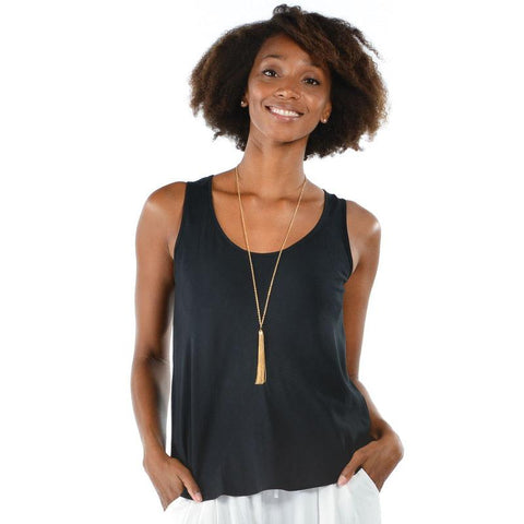 Solid Tank Tops - Black
