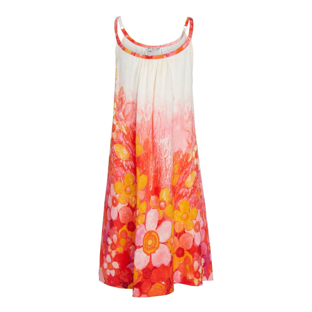 Girls:  XS(4/5) - L(12/14) Ariana Dress - Sundaisy Pink - jamsworld.com