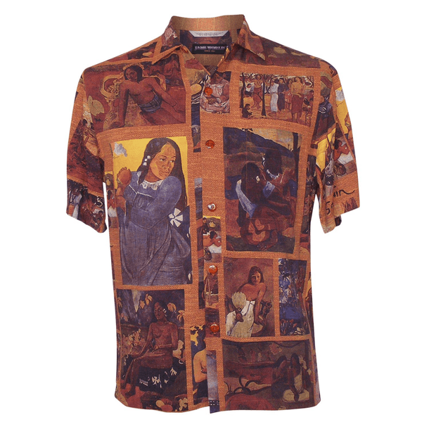 Men's Retro Shirt - Gauguin- jamsworld.com