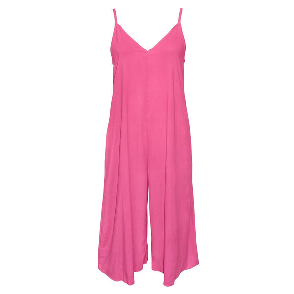 Solid Easy Jumpsuit - Cherry Pink