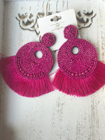 FUCHSIA FANCY EARRINGS