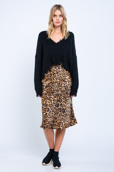 CAN'T BE TAMED LEOPARD PRINT SKIRT