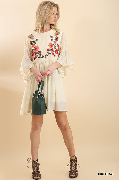 SAN MARCO EMBROIDERED SWING DRESS