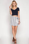 STRIPES & VIBES SKIRT