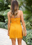 LOVESTRUCK DRESS IN MUSTARD
