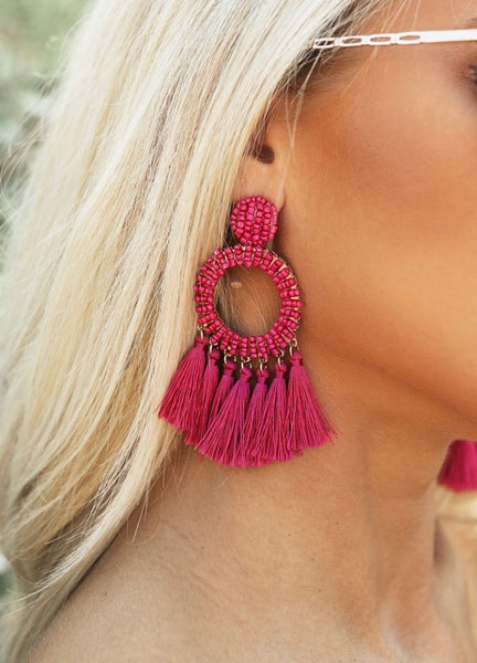 AUBREY EARRINGS : FUCHSIA