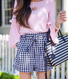 SUMMER SWOON GINGHAM SHORTS