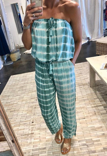 SEA GREEN STAPLE TIE DYE JUMPSUIT
